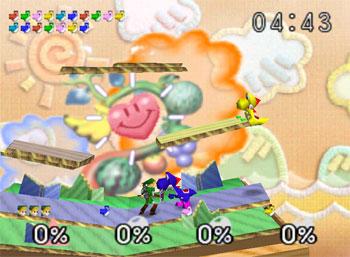 Pantallazo del juego online Super Smash Bros (N64)