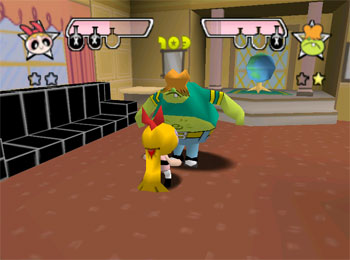 Pantallazo del juego online The Powerpuff Girls Chemical X-traction (N64)