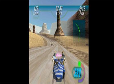 Pantallazo del juego online Star Wars Episode I Racer (N64)