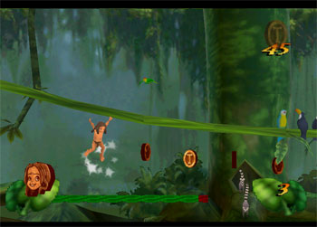 Pantallazo del juego online Disney's Tarzan (N64)