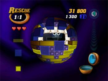 Pantallazo del juego online Tetrisphere (N64)
