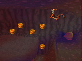 Pantallazo del juego online Tigger's Honey Hunt (N64)