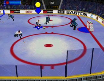 Pantallazo del juego online Wayne Gretzky's 3D Hockey '98 (N64)