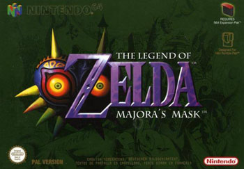 Portada de la descarga de The Legend of Zelda: Majora's Mask
