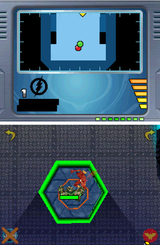Pantallazo del juego online Justice League Heroes (NDS)