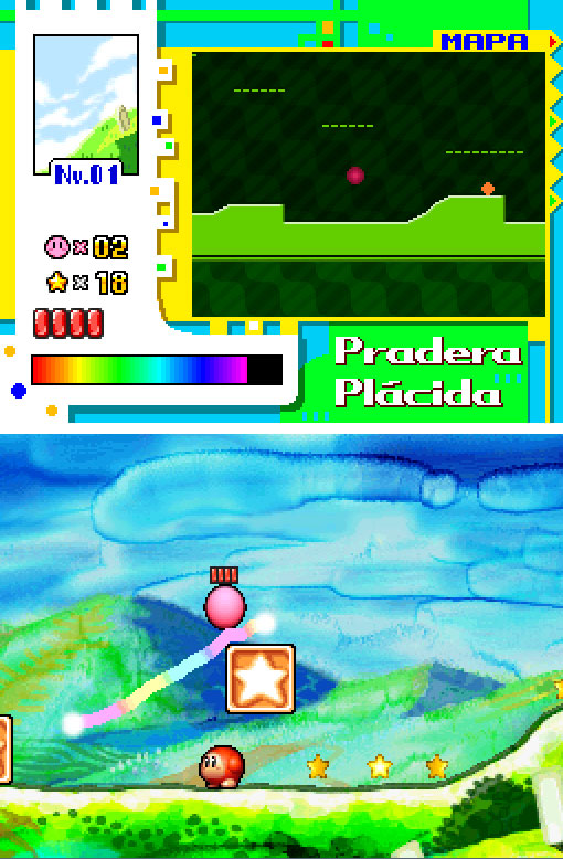Pantallazo del juego online Kirby Power Paintbrush (NDS)