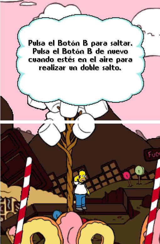 Pantallazo del juego online Los Simpson El VideoJuego (NDS)