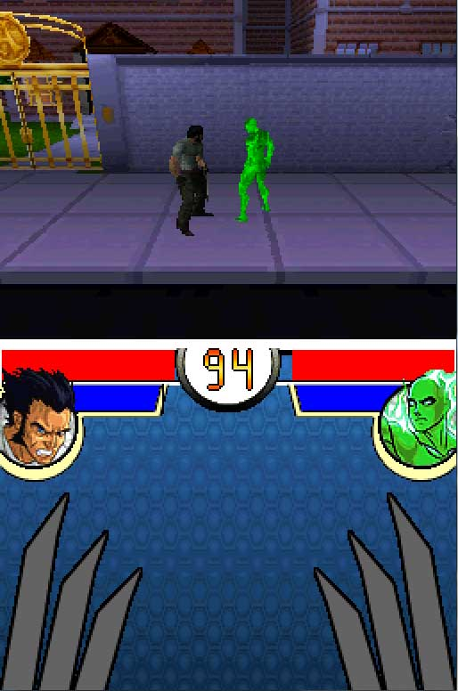 Pantallazo del juego online Marvel Nemesis Rise of the Imperfects (NDS)