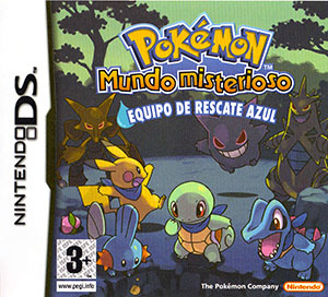Portada de la descarga de Pokemon Mundo Misterioso: Equipo de Rescate Azul