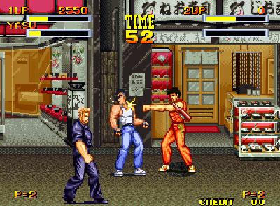 Pantallazo del juego online Burning Fight (NeoGeo)