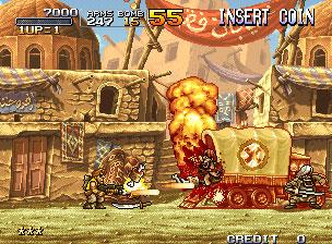 Pantallazo del juego online Metal Slug 2 (NeoGeo)