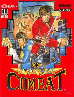 Carátula del juego Ninja Combat (NeoGeo)