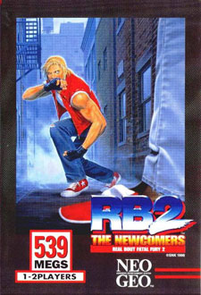 Carátula del juego Real Bout Fatal Fury 2 The Newcomers (NeoGeo)
