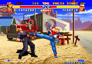 Pantallazo del juego online Real Bout Fatal Fury 2 The Newcomers (NeoGeo)