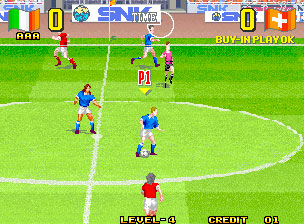 Pantallazo del juego online Super Sidekicks 3 - The Next Glory (NeoGeo)