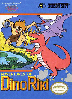 Portada de la descarga de Adventures of Dino-Riki