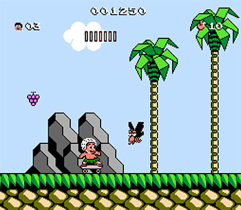 Pantallazo del juego online Adventure Island III (NES)