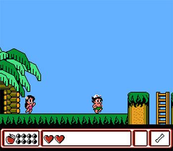 Pantallazo del juego online Adventure Island IV (NES)