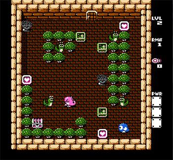Pantallazo del juego online Adventures of Lolo 3 (NES)