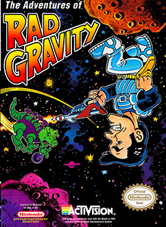 Carátula del juego The Adventures of Rad Gravity (NES)