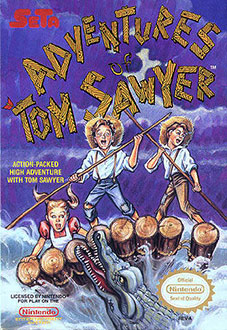 Carátula del juego Adventures of Tom Sawyer (NES)