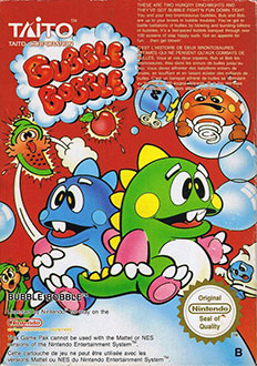 Portada de la descarga de Bubble Bobble