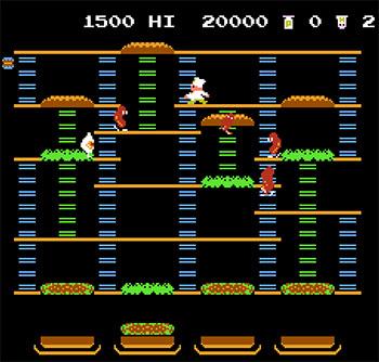 Imagen de la descarga de BurgerTime