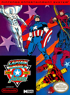 Carátula del juego Captain America and The Avengers (NES)
