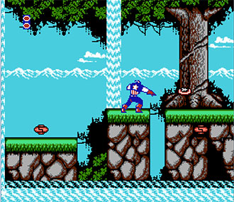 Pantallazo del juego online Captain America and The Avengers (NES)