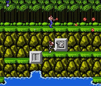 Pantallazo del juego online Contra (NES)