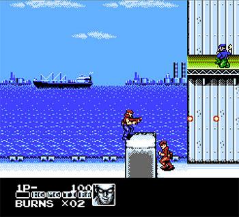 Pantallazo del juego online Contra Force (NES)