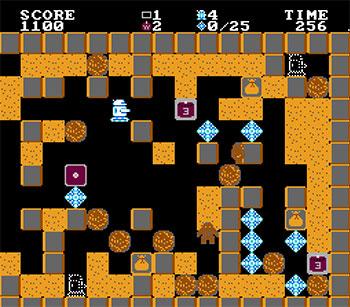 Pantallazo del juego online Crystal Mines (NES)