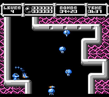 Pantallazo del juego online Cybernoid The Fighting Machine (NES)