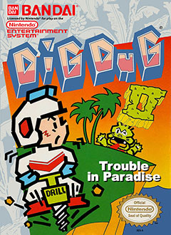 Juego online Dig Dug II: Trouble in Paradise (NES)