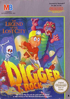 Carátula del juego Digger T. Rock The Legend of the Lost City (NES)