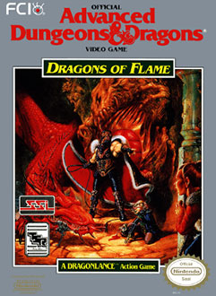 Juego online Advanced Dungeons & Dragons: Dragons of Flame (NES)
