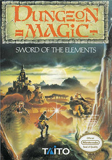 Juego online Dungeon Magic: Sword of the Elements (NES)