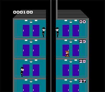 Pantallazo del juego online Elevator Action (Nes)
