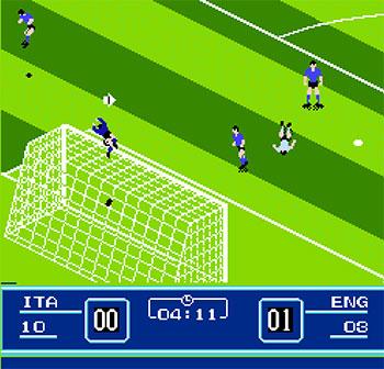 Pantallazo del juego online Eric Cantona Football Challenge Goal 2 (NES)