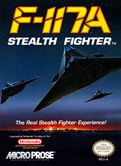 Carátula del juego F-117A Stealth Fighter (NES)