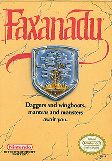 Carátula del juego Faxanadu (NES)