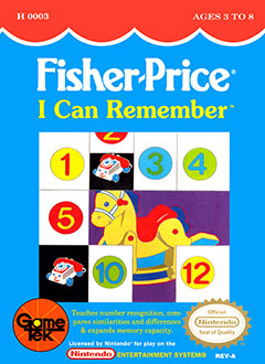 Carátula del juego Fisher-Price I Can Remember (NES)
