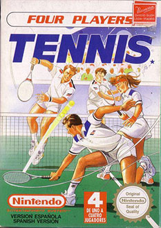 Juego online Four Players Tennis (NES)