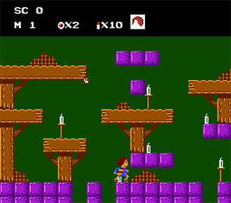 Pantallazo del juego online Gegege no Kitaro Youkai Daimakyou (NES)