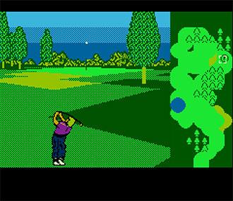Pantallazo del juego online Greg Norman's Golf Power (NES)