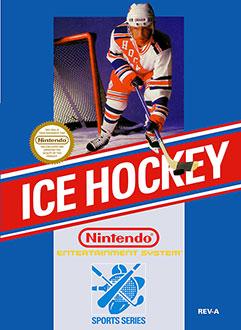 Carátula del juego Ice Hockey (NES)