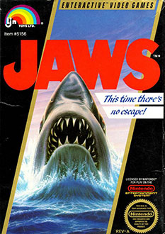 Carátula del juego Jaws (NES)