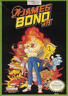 Carátula del juego James Bond Jr (NES)