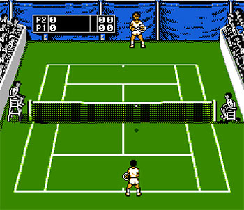 Pantallazo del juego online Jimmy Connors Tennis (NES)