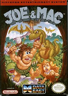 Carátula del juego Joe & Mac (NES)